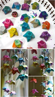 basteln mit eierkartons osterdek oideen diy ideen recycling nachhaltig leben upcycling ideen wie rosen gemacht werden schritt für schritt4