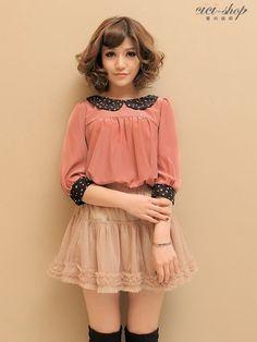 vintage babydoll blouse