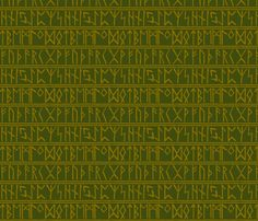 Futhark2_olive fabric by bearhide on Spoonflower - custom fabric