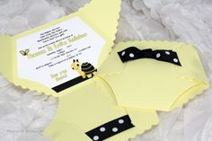 Cute Baby Diaper Invitations by SDezigns