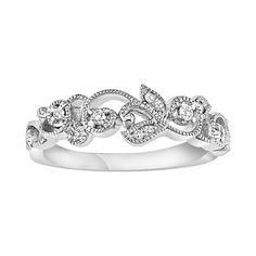 vera wang flower wedding ring | Simply Vera Vera Wang 14k White Gold Diamond Accent Twist Wedding Ring