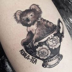 And this quality koala-tea. | 17 Tattoos For Anyone Obsessed With Australian Flora And Fauna