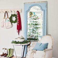 light and pretty Christmas decor