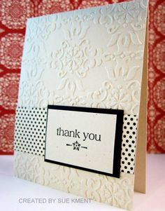 More simple thank you cards by Susiespotless - Cards and Paper Crafts at Splitcoaststampers