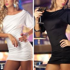 Discount China china wholesale Sexy White And Black Zip Shoulder Slim Clubwear Dresses + G-string for Party Queen [20421] - US$9.99 : Bluelans