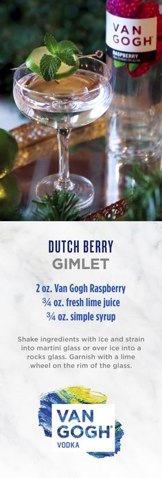 Craft the fresh holiday cocktail with only three ingredients. Our signature Van Gogh Raspberry gives this simple holiday recipe a vibrant and refreshing taste. Follow for more holiday recipes.