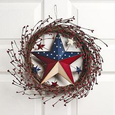 Wicker Americana Star Wreath - OrientalTrading.com