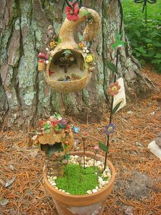 Potted Fairy Garden  by Fairy Patch, via Flickr