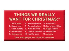 Things We Really Want for Christmas – Fun Chocolate Bars by Knock Knock #KnockKnockStuff