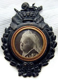 Mourning Jet Brooch with Queen Victoria.