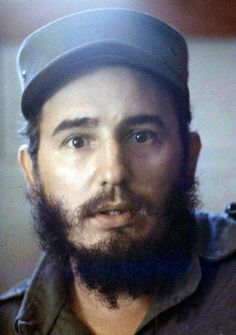 Fidel Castro, 33 years old. Heading Cuba goverment