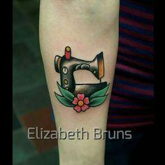 Traditional Sewing Machine tattoo by Elizabeth Bruns  https://m.facebook.com/elizabethbrunsart