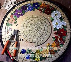 """Designs for Mosaics Templates 1201 Best Geometric Design Round Oval Mosaics Images On Of Designs for Mosaics Templates Mosaic Patterns""""Around the Town"""" - as I call it - mosaic! Mosaic Tile Art, Mosaic Crafts, Mosaic Projects, Mosaic Glass, Mosaic Mirrors, Fused Glass, Mosaic Designs, Mosaic Patterns, Mosaic Furniture"""