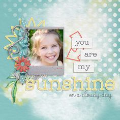 Digital scrapbooking kit Value Pack: Sunshine on a Cloudy Day by Elisha Barnett at ScrapGirls.com