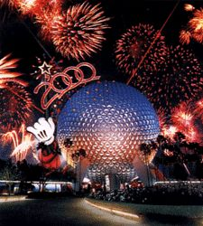Epcot, Disneyworld 2000 - Celebrate the Future Hand in Hand.  Wow..I'm so happy i found this picture:)