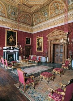 Houghton Hall Interiors | The saloon at Houghton Hall (palladian interior)