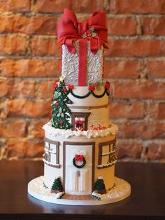 Weihnachtstorte Christmas Cakes, Holiday Cakes, Christmas Ideas, Merry Christmas, Fondant Cakes, Cupcake Cakes, Edible Art, Let Them Eat Cake, Cake Designs