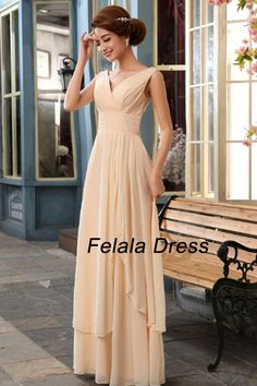 Blush evening dress  long bridesmaid dress / pink by FelalaDress, $95.00