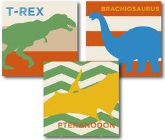 Dinosaur Digital Art. Great for a little boy's bedroom