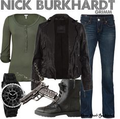 Inspired by character Nick Burkhardt played by David Giuntoli on Grimm.