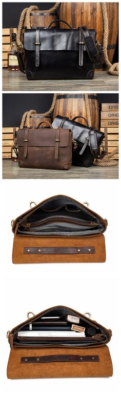 MENS BUSINESS BAG,LEATHER BRIEFCASE,15 INCH LAPTOP BAG, CROSS BODY BAG,LAPTOP BAG MS020