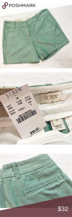💛J Crew • NWT Chino Shorts J Crew • NWT Chino Shorts. Beautiful light Teal colour. Never worn. Size 2! J. Crew Shorts