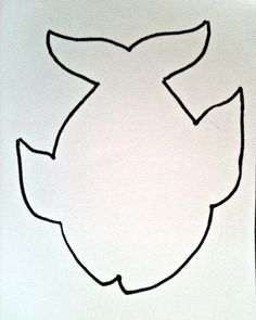 Fish Pattern | Cut out the fish pattern and trace it on each color of foam sheet.