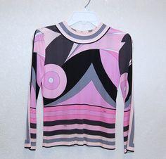 Vintage 1960s Emilio Pucci Silk Jersey Mod Op Art by LolaAndBlack, $139.00