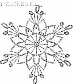 - A Snowflakes - Crochet Snowflake Pattern, Crochet Stars, Crochet Motifs, Crochet Snowflakes, Crochet Diagram, Crochet Doilies, Crochet Flowers, Crochet Patterns, Sunburst Granny Square