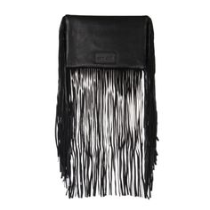 A gorgeous patent leather clutch bag by Sam Ubhi. A fold over clutch held by a magnet andtwo zipped compartments. The fringing is leather. Leather Fringe, Black Leather, Fringe Fashion, Leather Clutch Bags, Fringes, All Black, My Style, Women, Classic