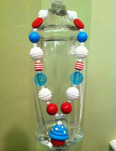 Gumball Beads - Patriotic Necklace
