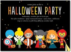 Trick or Treaters Halloween party invitation.