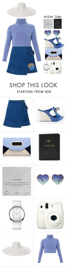 """White lies"" by sazyc ❤ liked on Polyvore featuring Melissa, Forever New, FOSSIL, Dogeared, Wildfox, Calvin Klein, Fuji, Flora Bella, The Row and white"