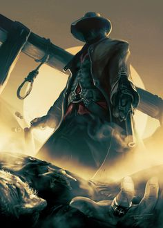 F n&Seedy / assassin's creed :: cowboy :: gallows :: guy (dude, fellow) :: games :: art (beautiful pictures) Arte Assassins Creed, Westerns, Connor Kenway, The Dark Tower, Art Anime, Cowboy Art, Western Art, Western Cowboy, Old West