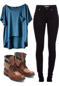 Take a look at the best school outfits in our gallery. Get inspiration from these cute and casual school outfits. You can wear these outfits in winter or summer. We have different outfits for different seasons. You can share the… Continue Reading → Look Fashion, Teen Fashion, Fashion Outfits, Womens Fashion, Fall Fashion, Fashion Boots, Fashion Clothes, Fashion Ideas, Fashion Guide