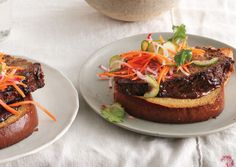 Hoisin-Glazed Meatloaf Sandwiches  Delicious on its own, this thoroughly modern meatloaf takes on a terrine-like texture when chilled overnight, just right for deluxe open-face sandwiches with a banh mi-like flavor profile.