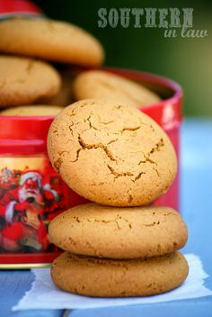 Healthier Ginger Cookies Recipe - Healthy Christmas Cookie Recipes, Healthy, Low Fat, Gluten Free, Low Sugar, Skinny Recipes, Gingernut Biscuits, Ginger Biscuits, Home made