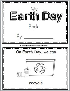 Free Earth Day Mini Book for Kindergarten