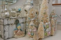 Vintage Bottle Brush Trees | vintage bottle brush trees | Christmas