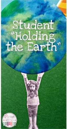 An adorable Earth Day art project- have each student hold the earth!  A great craft for preschool, kindergarten and first grade kids!