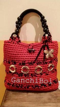 Bolso de trapillo creado por Ganchibol