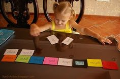 """Cards in a rainbow of colors with the colors written on them, and matching white cards with each of the same colors printed.   How it's Done Child first sets out all of the colored cards.  Next, they pick up one """"white"""" card at a time, and match the color on the card with the """"colored"""" card as they say the name.   What I LOVE about this one is that you can see how excited such a young child gets when you say """"You can read your colors!!!""""  Not only are they learning to recognize the…"""