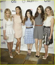 Ashley Benson, Lucy Hale, Shay Mitchell & Troian Bellisario at the PaleyFest panel for Pretty Little Liars