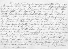 Amanuensis Monday on Tuesday: Alfred Mitchell --Deeds #1 & #2 As I mentioned in my post from last week, 52 Ancestors: #12 Alfred Mitchell --A Son Bears Witness, I want to share over the course of the next few Mondays (well, for this week Tuesday) the deeds of my 2nd great grand uncle. Like his father, Mortimer Mitchell, and sister, Rosa Mitchell Jones, Alfred went on to become a property owner as well.