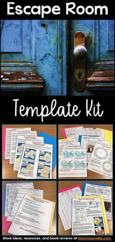 "This template kit will help you create stellar Escape Rooms for any content area and grade level . You get a detailed introduction to Escape Rooms and Breakout Boxes (collaborative puzzle games), brainstorming pages for your room, ideas for puzzles and challenges, 40+ pages of templates, and a full ""starter room"" that you can edit with your own content.  You can be a complete novice at escape rooms and still end up with an awesome game! Editable in PowerPoint. Personal and commercial use."