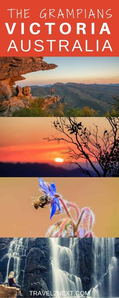 The Grampians – 10 Best places. We had a brilliantly coloured sky for our sunset near Dunkeld.