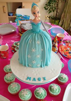 Disney's Frozen Elsa barbie doll cake