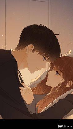 Romantic Anime Couples, Fantasy Couples, Cute Anime Couples, Cute Couple Drawings, Anime Couples Drawings, Anime Couples Manga, Kawaii Anime, Chica Anime Manga, Anime Kunst