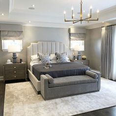has really hit the mark with the bedroom designs I love the full length curtains headboard design and. Formal Living Rooms, Living Room Decor, Bedroom Decor, Foyer Design, House Design, Headboard Designs, Bedroom Designs, Inspire Me Home Decor, Foyer Decorating