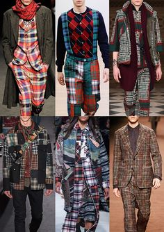 Tartan Check-out AW1617 Menswear Catwalk Print Trends Vivienne Westwood / Comme des Garçons Shirt / Sacai / Valentino / Mihara Yasuhiro / Etro